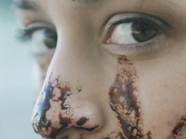 Choklad i ansiktet