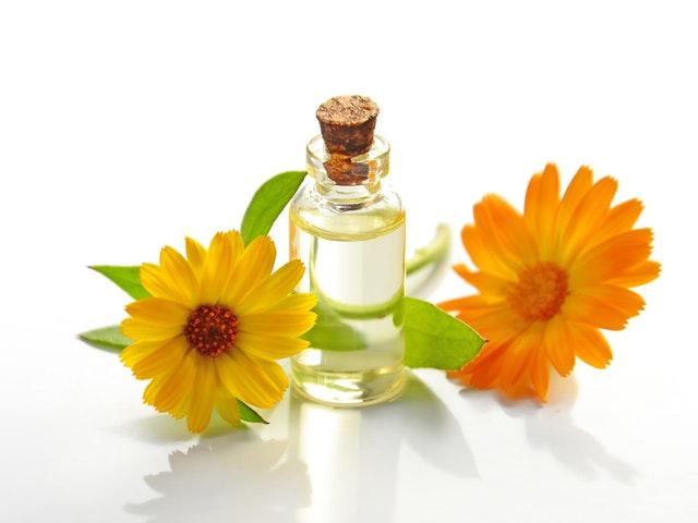 Olja och blommor
